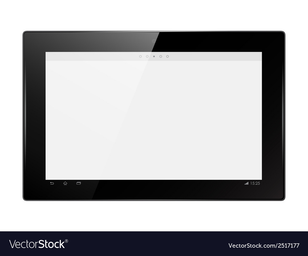 Digital tablet vector