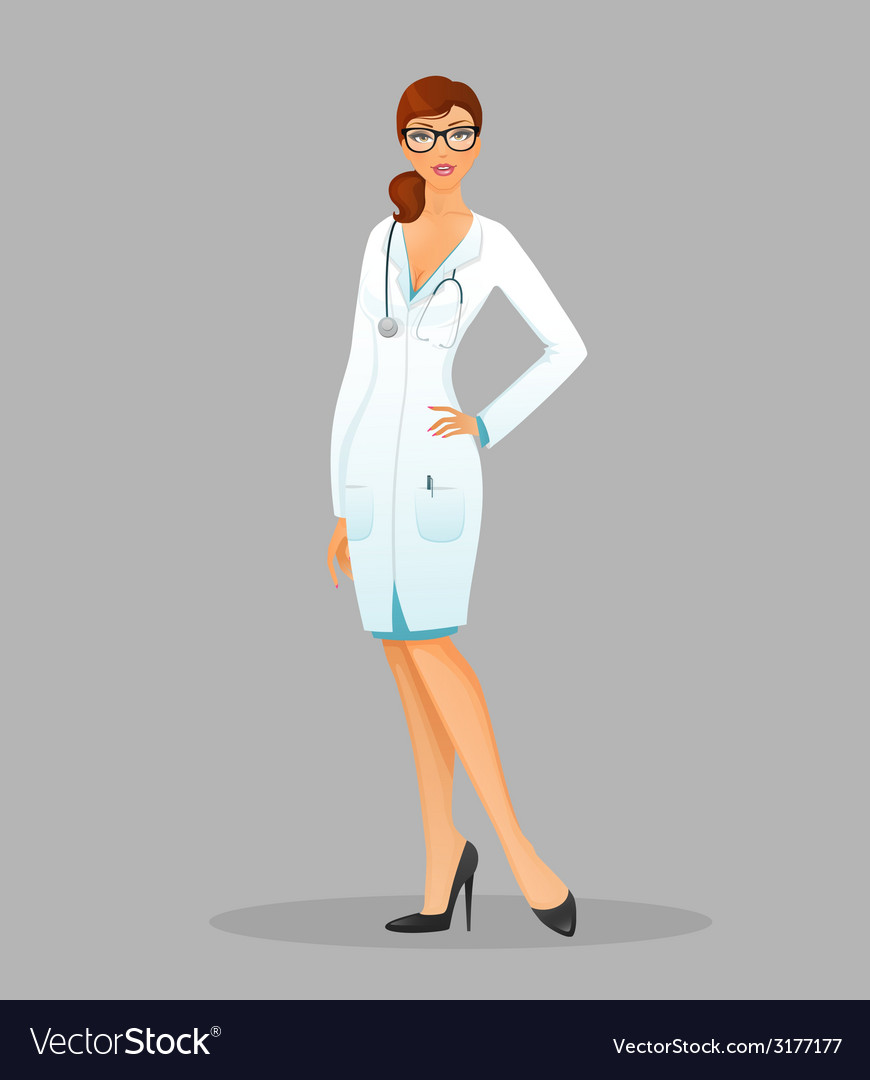 Doctor woman vector | Price: 1 Credit (USD $1)
