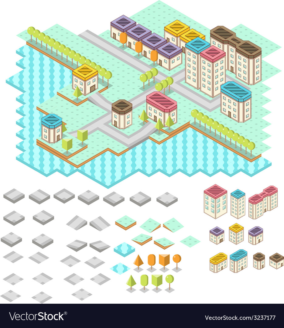 Isometric rpg game assets vector | Price: 1 Credit (USD $1)