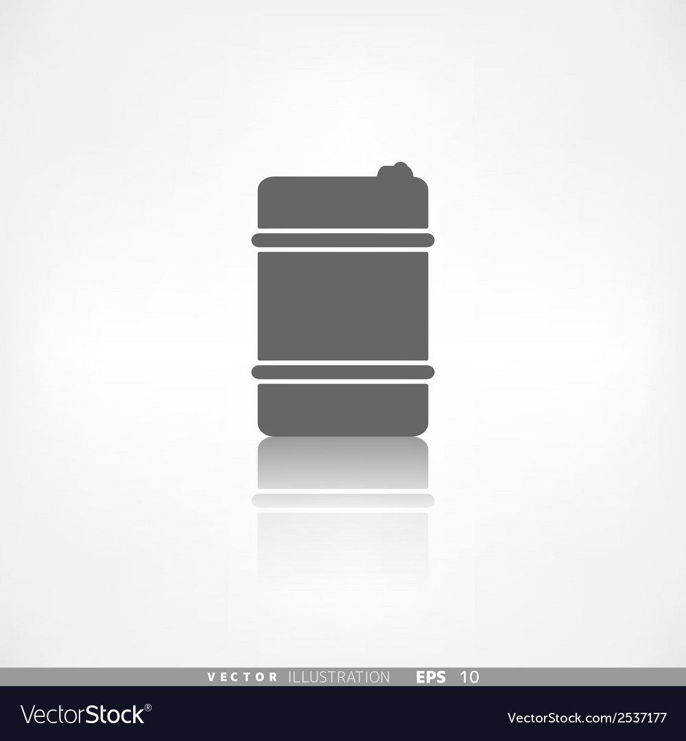 Oil barrel icon vector | Price: 1 Credit (USD $1)