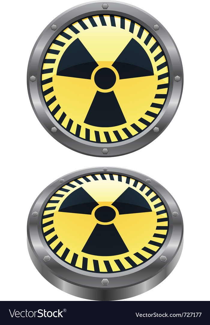 Radioactive icon vector | Price: 1 Credit (USD $1)
