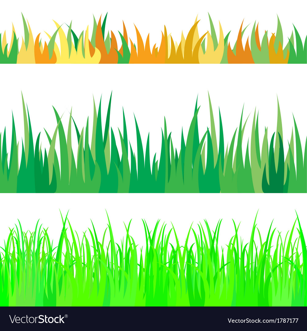 Set of seamless the grass vector | Price: 1 Credit (USD $1)