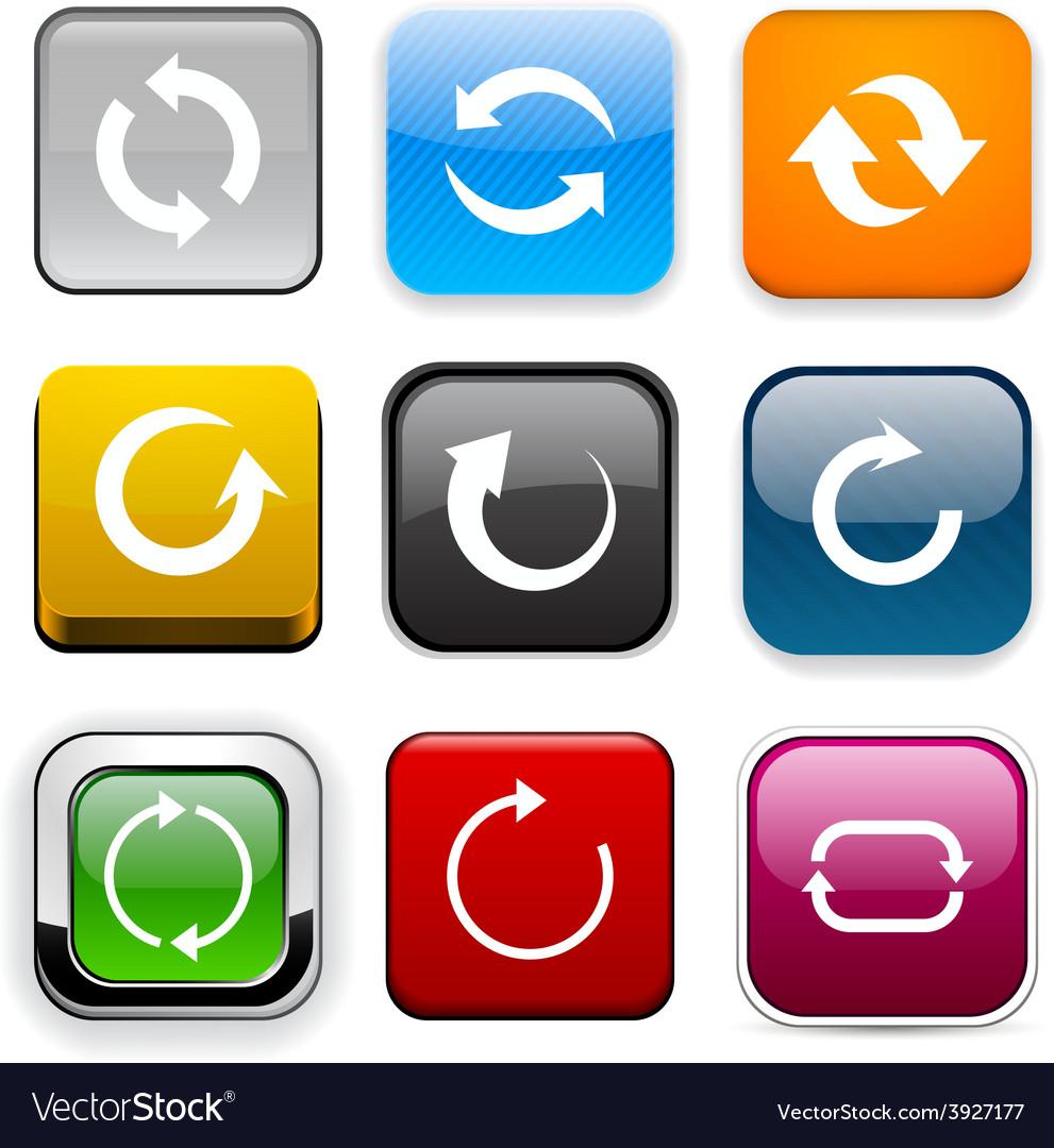 Square color arrow icons vector   Price: 1 Credit (USD $1)