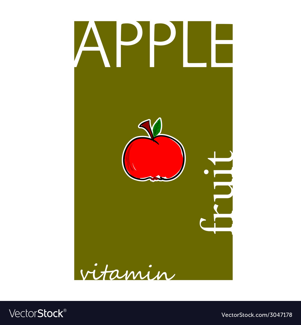 Apple cartoon vector | Price: 1 Credit (USD $1)