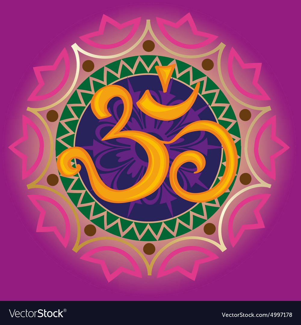 Chakra ohm with the mandala vector
