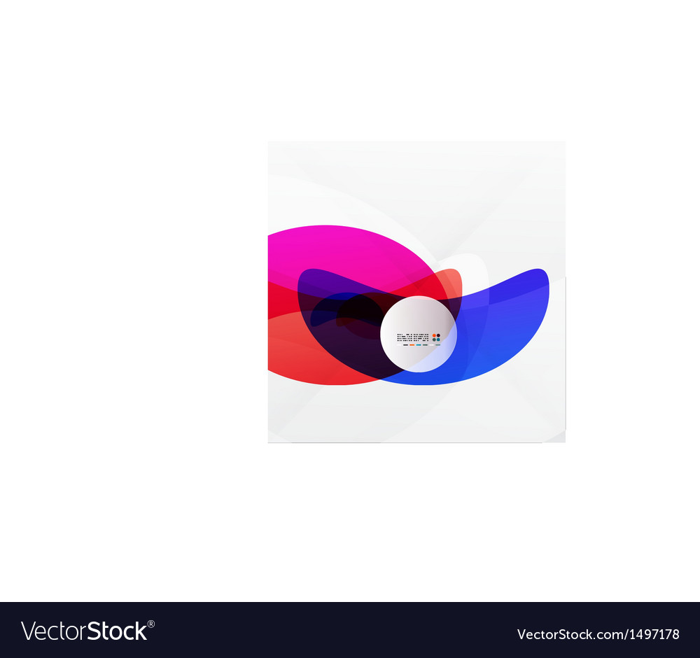 Colorful flowing shapes vector | Price: 1 Credit (USD $1)