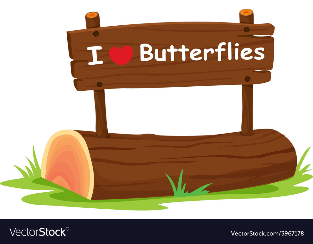 I love butterflies vector | Price: 1 Credit (USD $1)