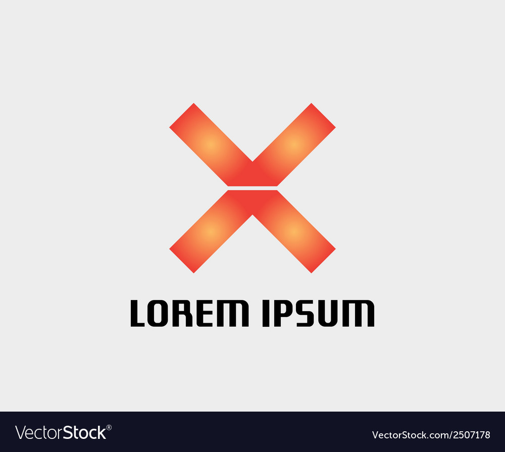 Letter x icon abstract icon based on the letter x vector | Price: 1 Credit (USD $1)