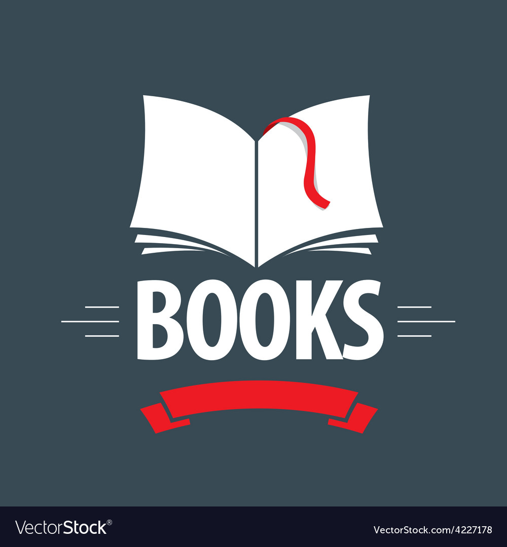 Logo book with a red ribbon and bookmark vector | Price: 1 Credit (USD $1)
