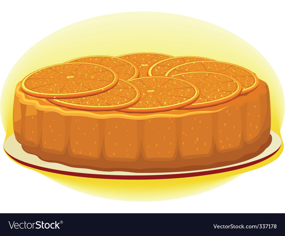 Orange pie vector | Price: 1 Credit (USD $1)