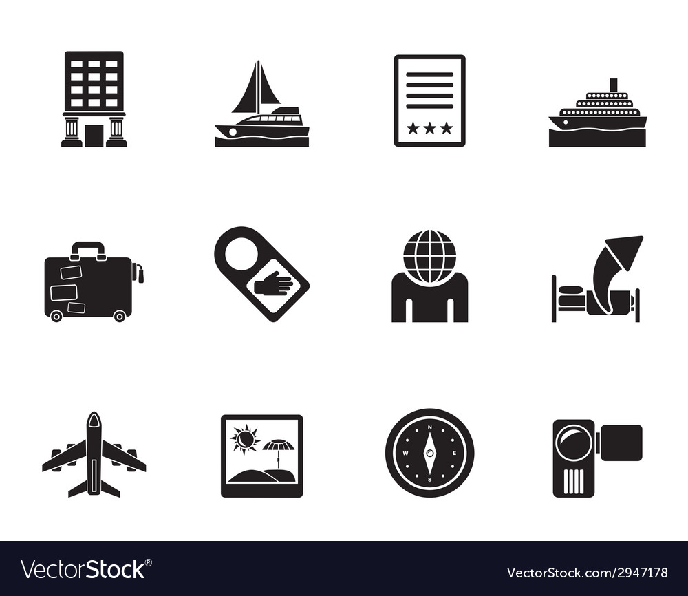 Silhouette vacation and holidays icon vector | Price: 1 Credit (USD $1)