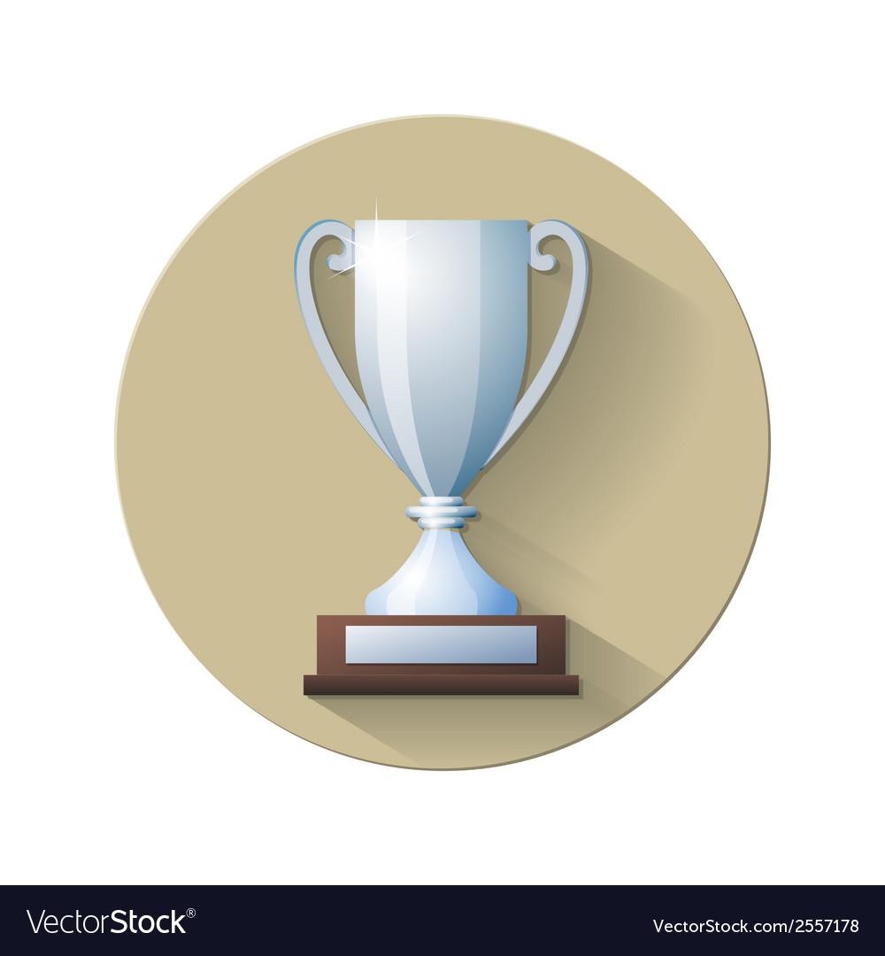 Silver champions cup icon vector   Price: 1 Credit (USD $1)