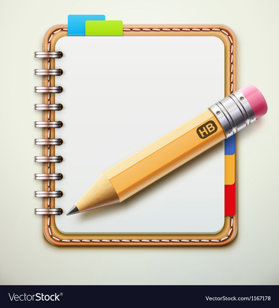 Spiral notebook vector | Price: 3 Credit (USD $3)