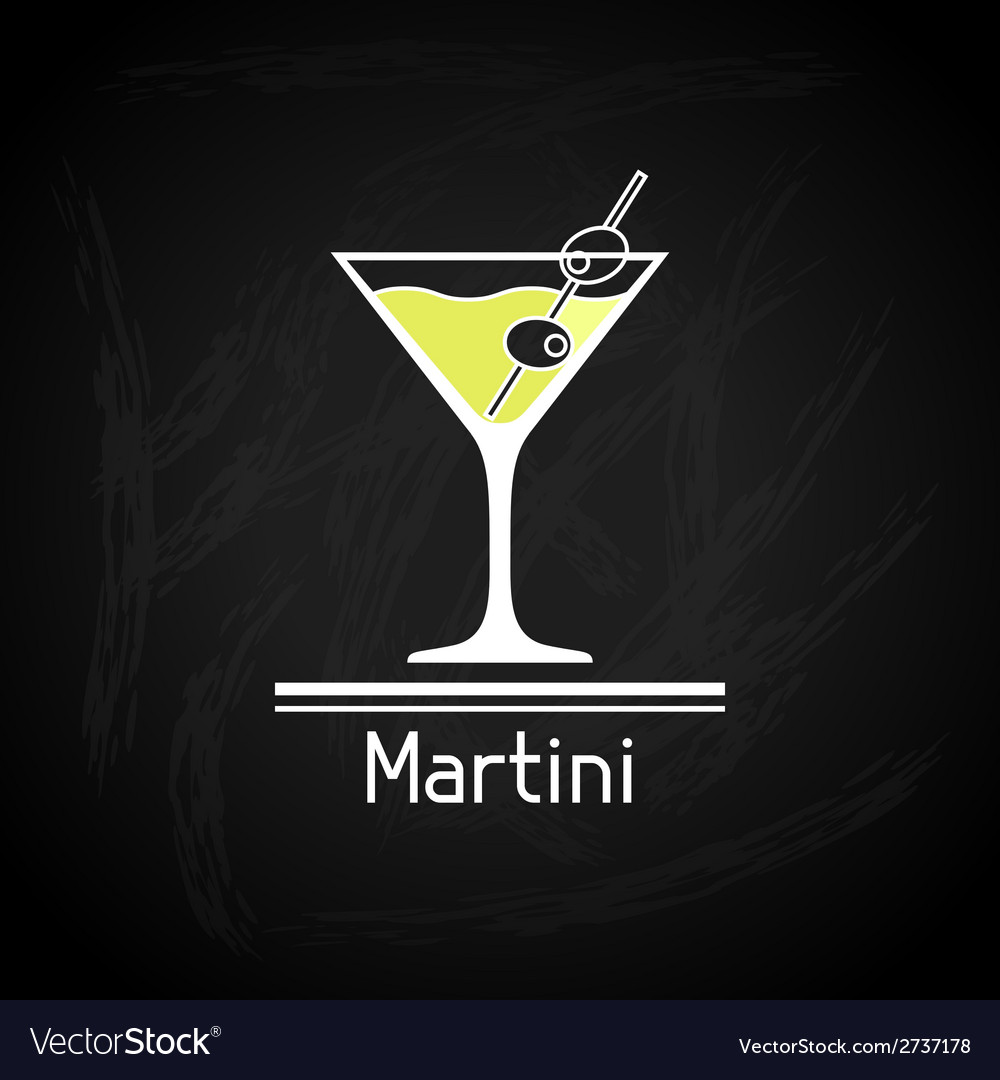 With glass of martini for menu cover vector | Price: 1 Credit (USD $1)