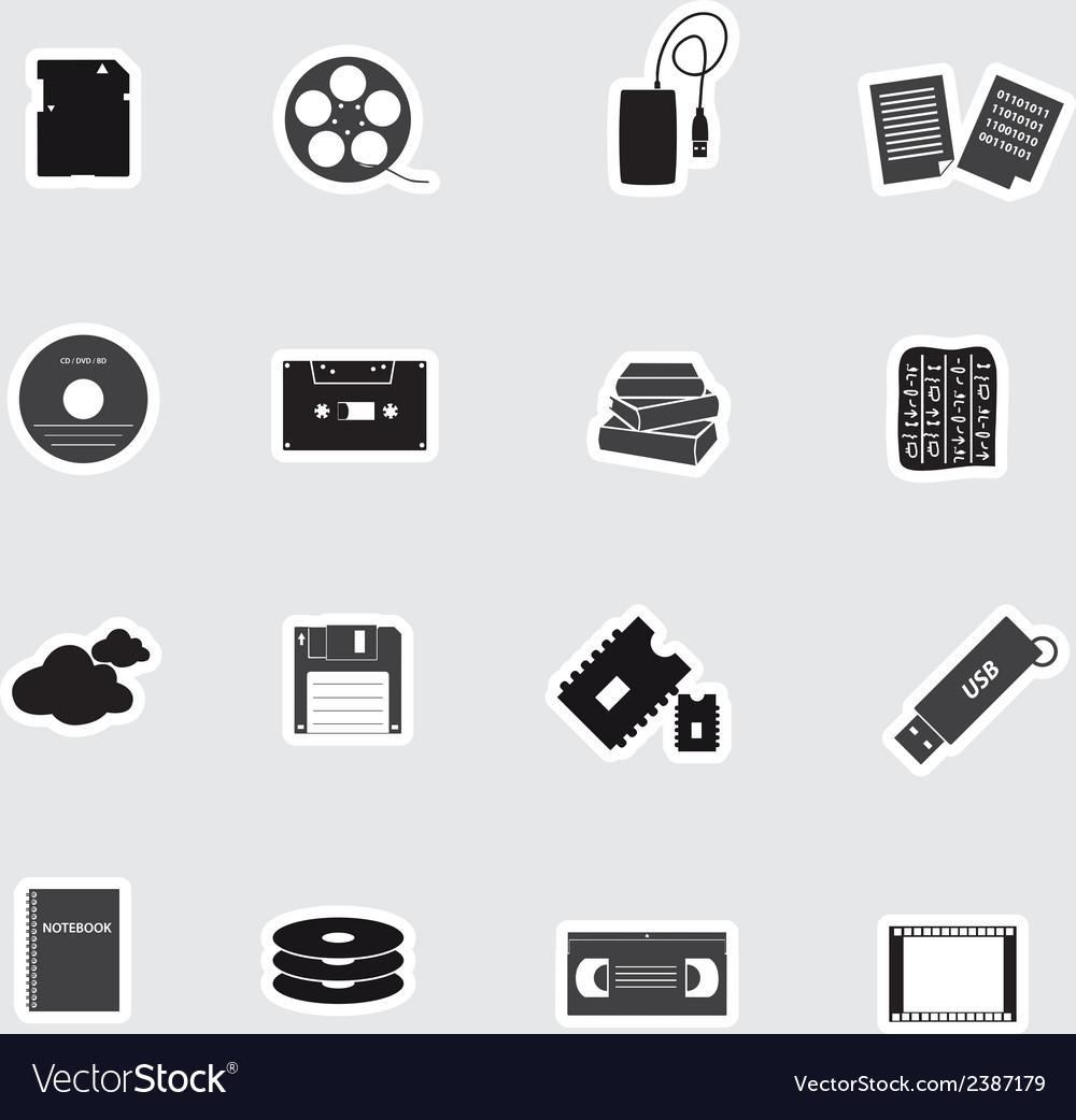 Data storage media stickers eps10 vector | Price: 1 Credit (USD $1)