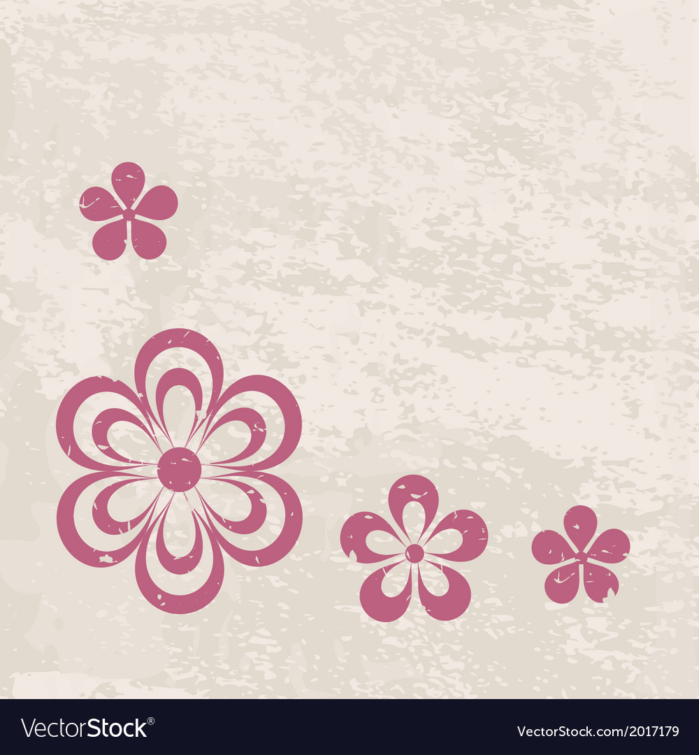 Grungy floral border vector | Price: 1 Credit (USD $1)