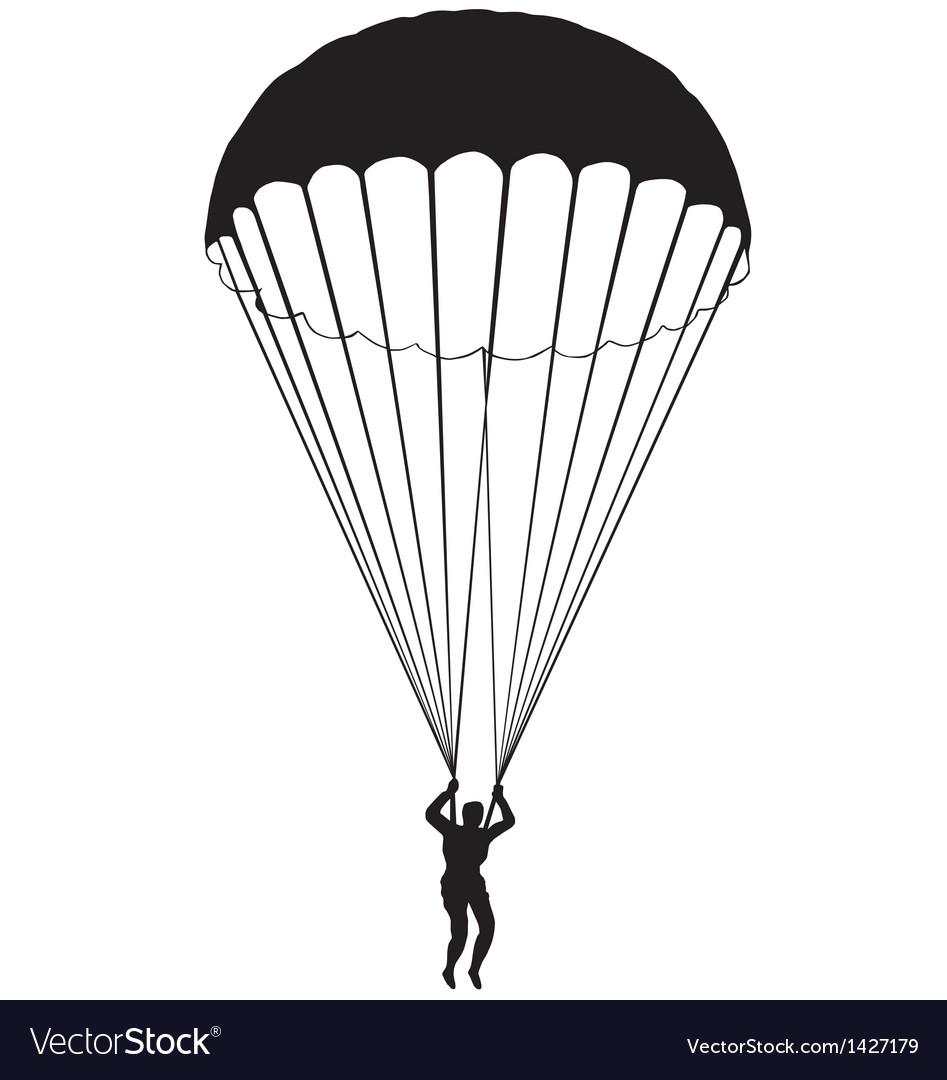 Parachute silhouette vector | Price: 1 Credit (USD $1)