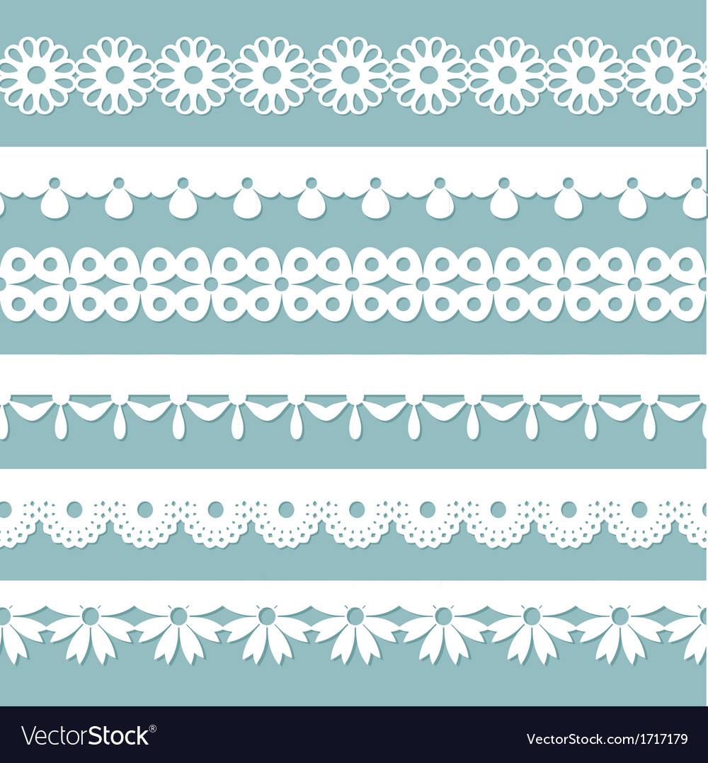 Seamless laces on the blue background vector | Price: 1 Credit (USD $1)