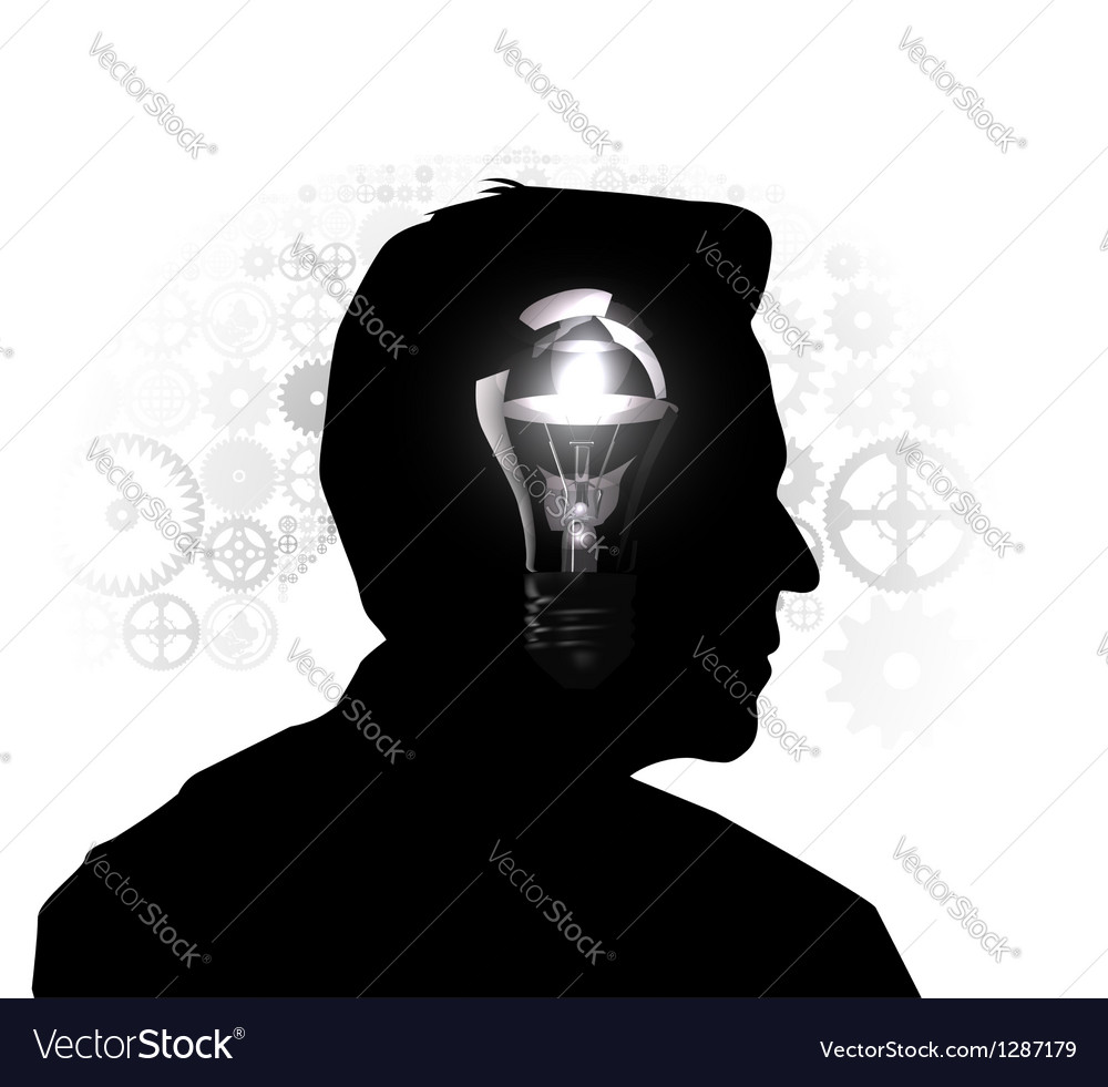Silhouette of a mans head vector | Price: 1 Credit (USD $1)