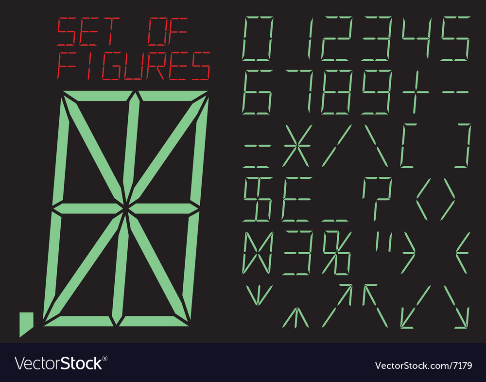 Special symbols and digitals vector | Price: 1 Credit (USD $1)