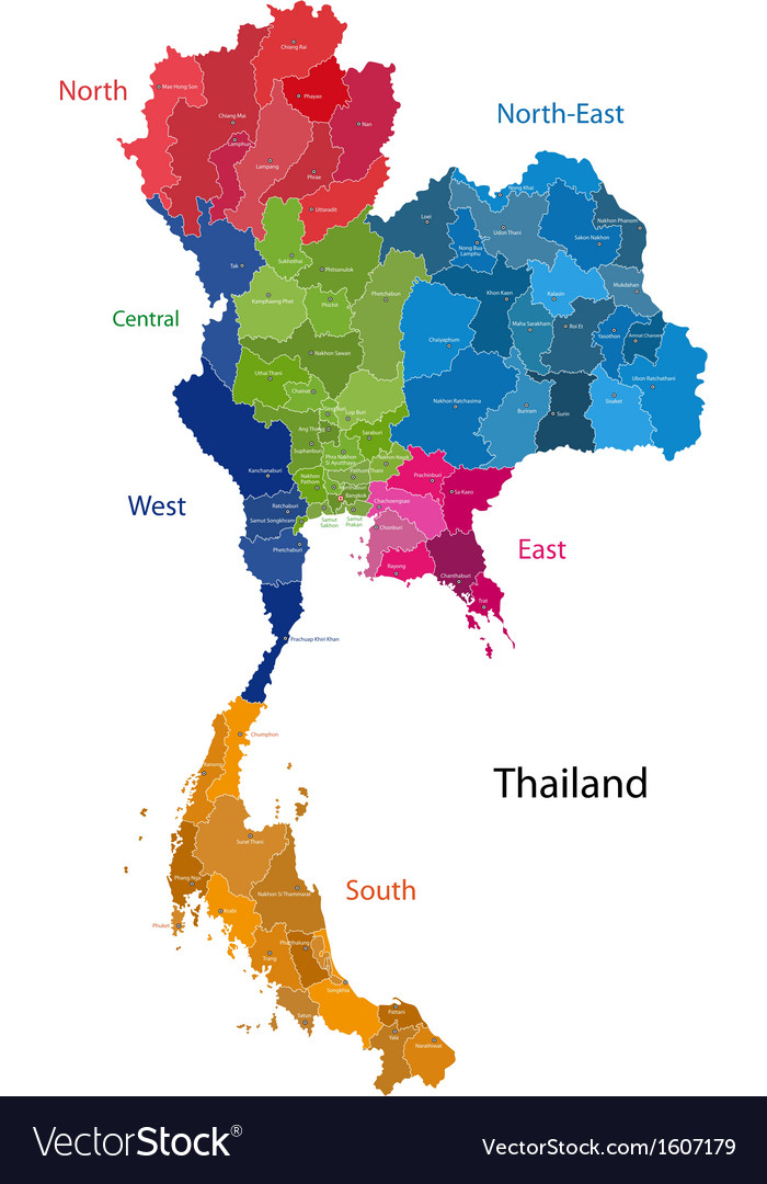 Thailand map vector | Price: 1 Credit (USD $1)