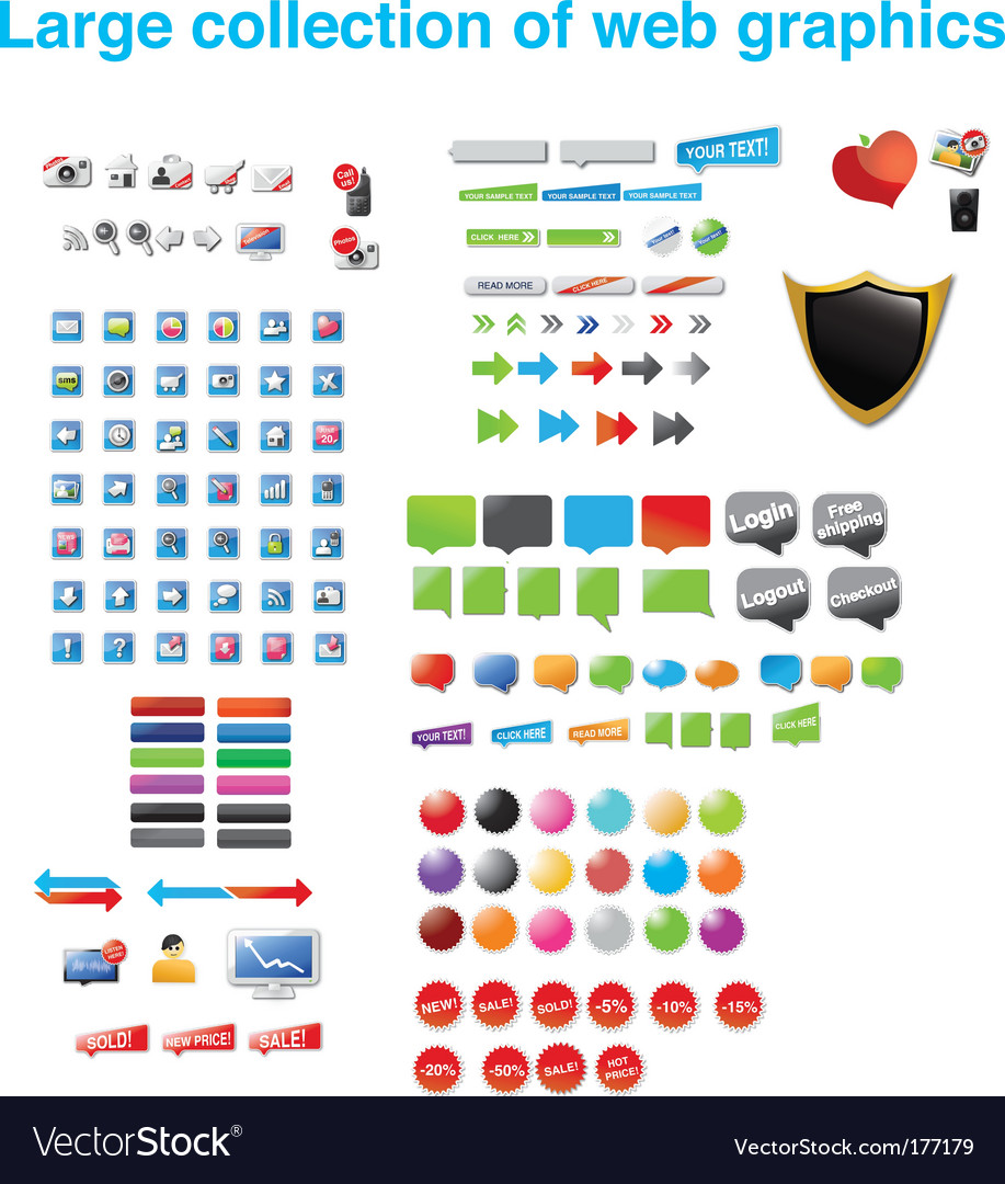 Web assortment vector | Price: 3 Credit (USD $3)