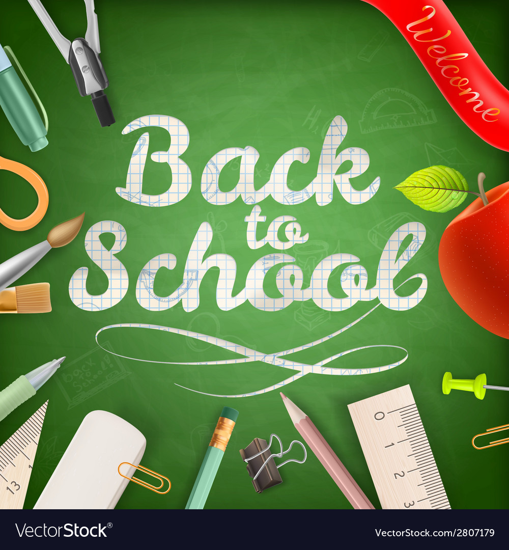 Welcome back to school eps 10 vector | Price: 1 Credit (USD $1)