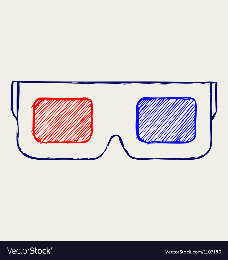 3-d glasses vector | Price: 1 Credit (USD $1)