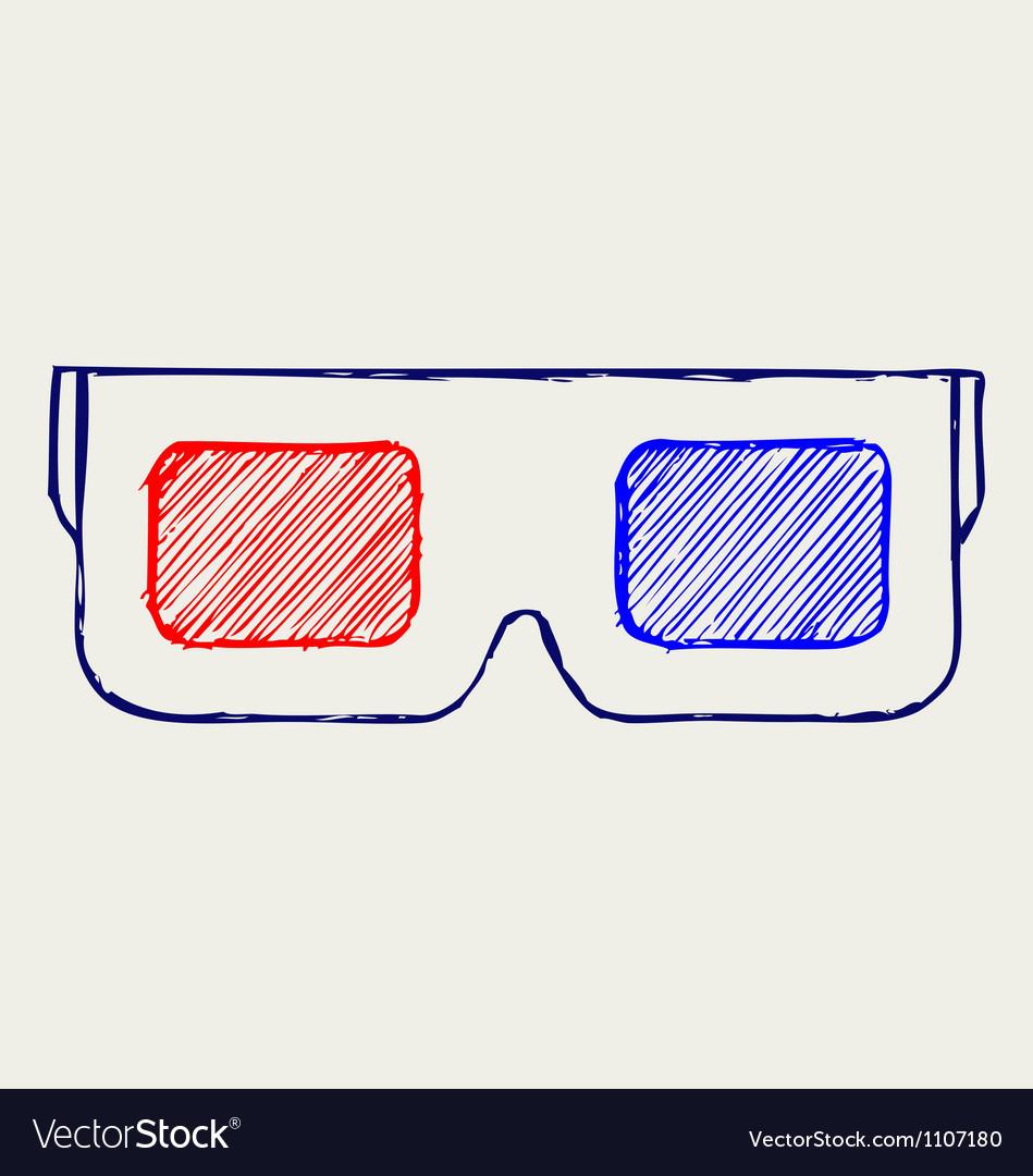 3-d glasses vector | Price: 1 Credit (USD $1)