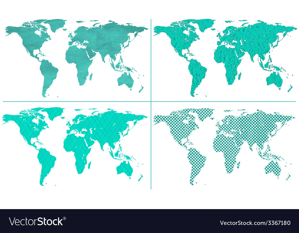 Abstract world maps vector | Price: 1 Credit (USD $1)