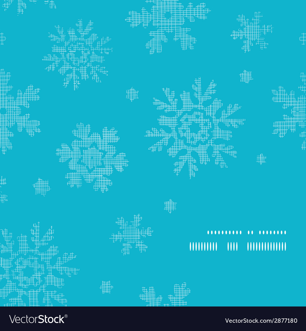 Blue lace snowflakes textile frame corner pattern vector | Price: 1 Credit (USD $1)