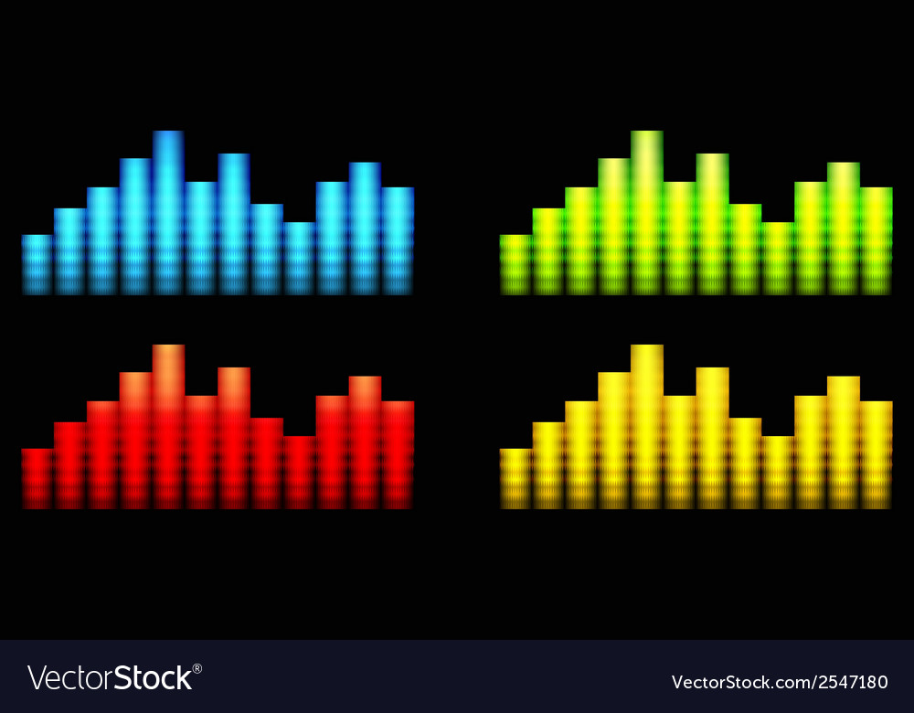 Colored equalizer vector | Price: 1 Credit (USD $1)