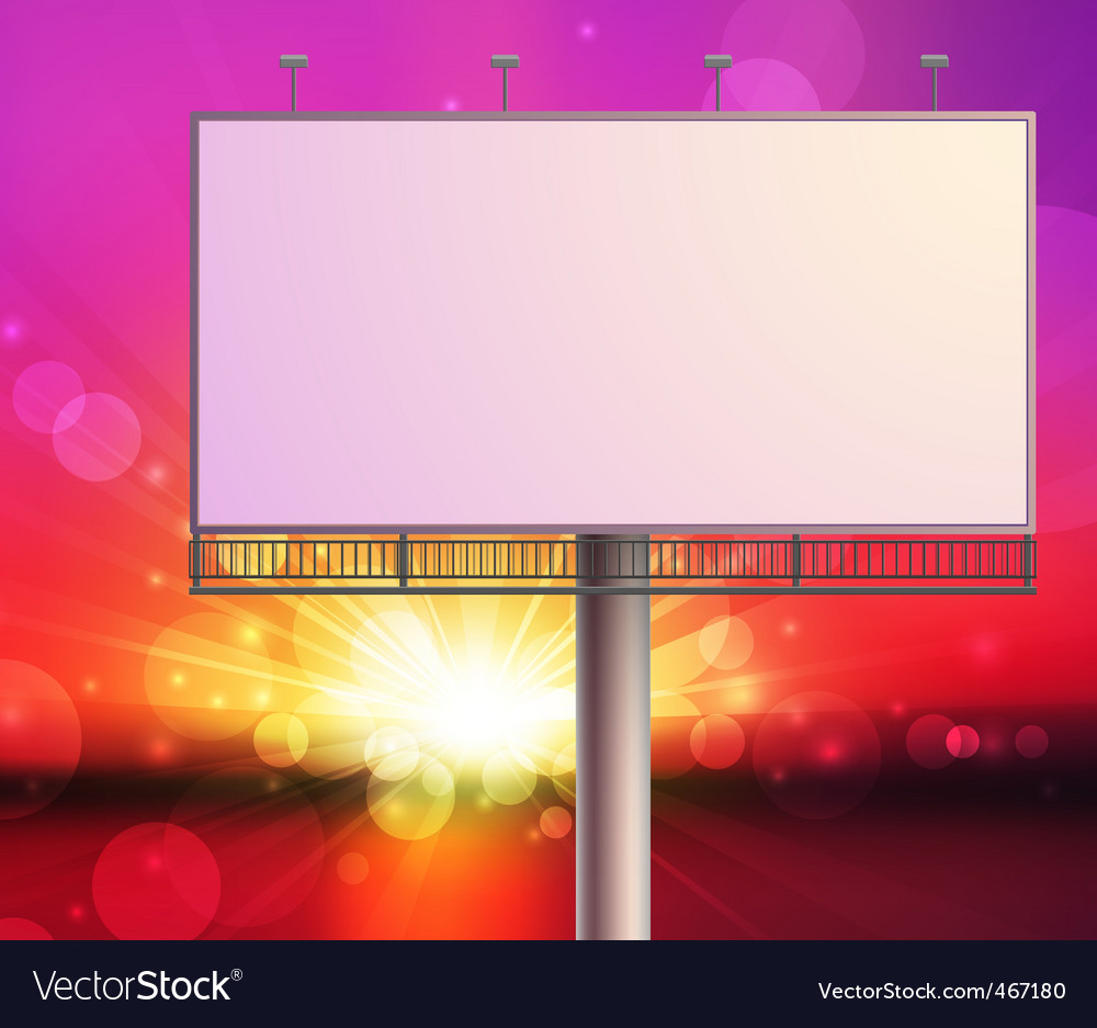 Construction on sunset sky background vector | Price: 1 Credit (USD $1)