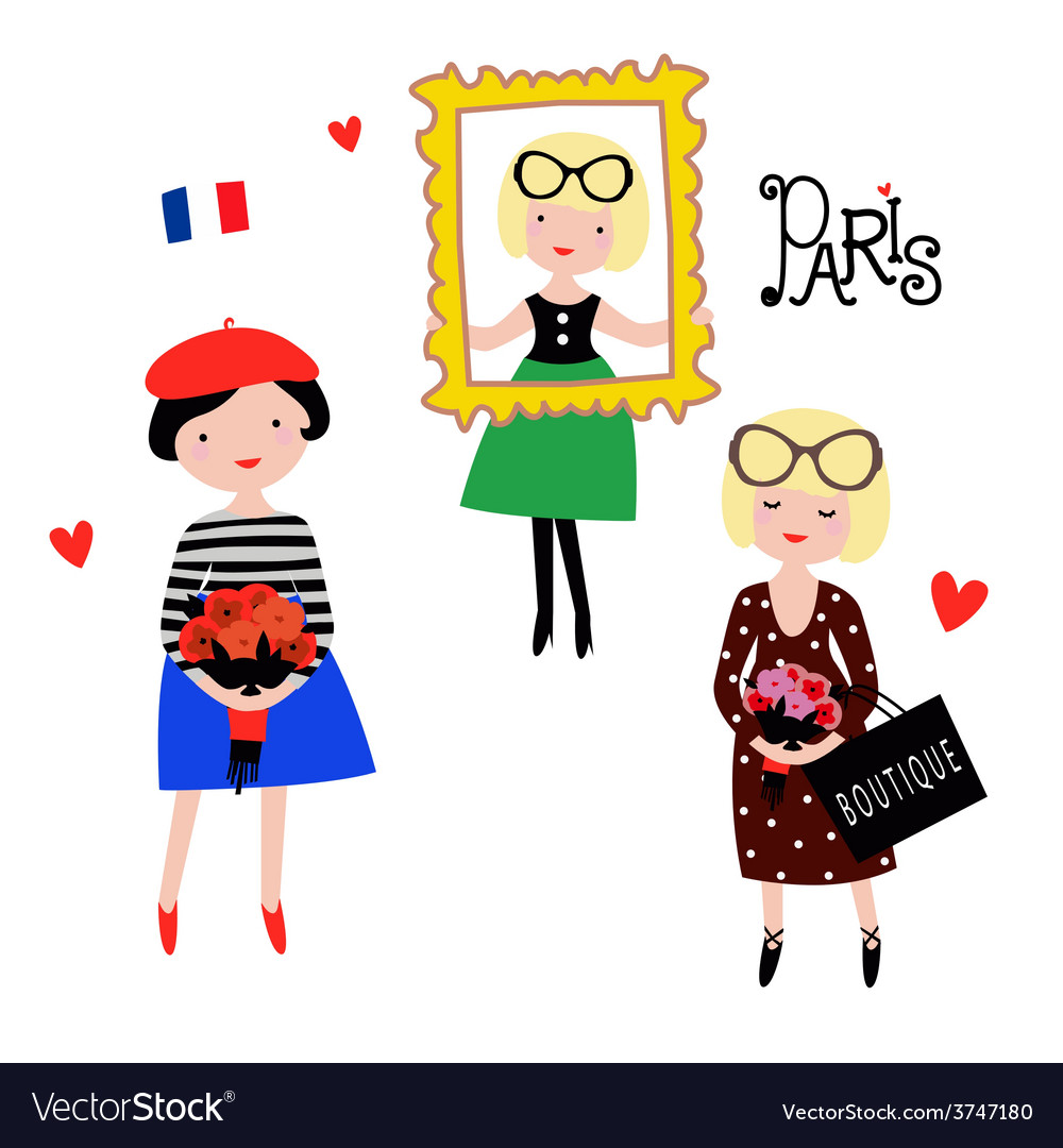 Fashionable paris models vector | Price: 1 Credit (USD $1)