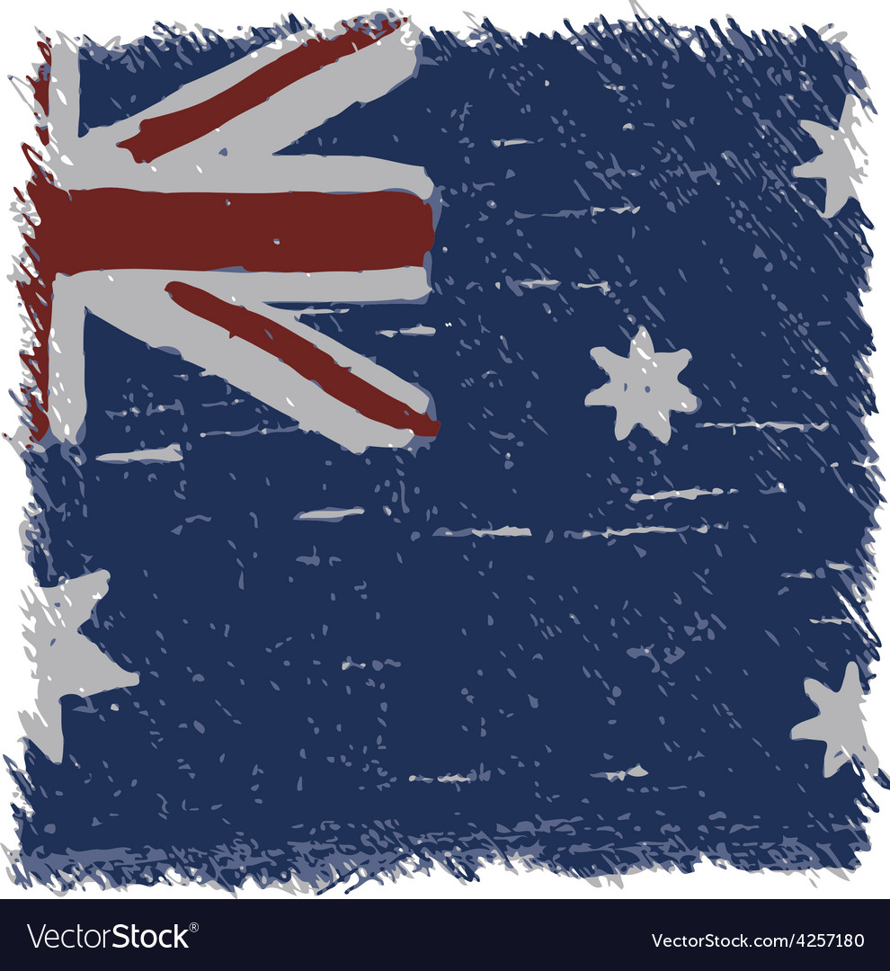 Flag of australia handmade square shape vector | Price: 1 Credit (USD $1)