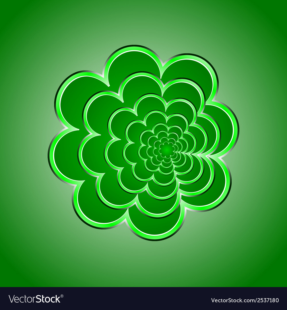 Green flower background vector | Price: 1 Credit (USD $1)