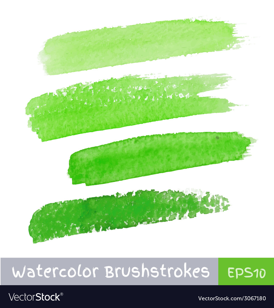 Green watercolor brush strokes for your design vector | Price: 1 Credit (USD $1)