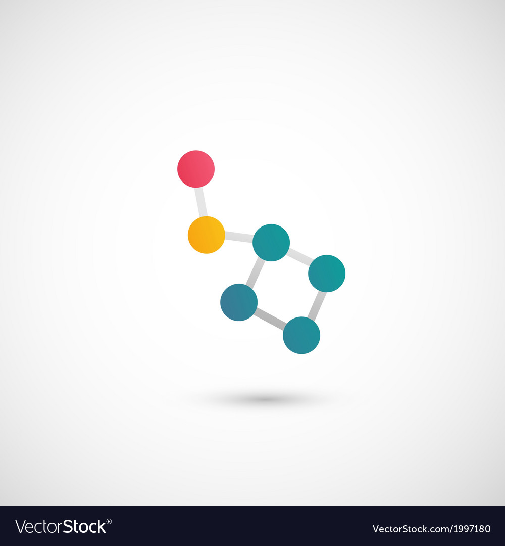 Molecule icon vector | Price: 1 Credit (USD $1)