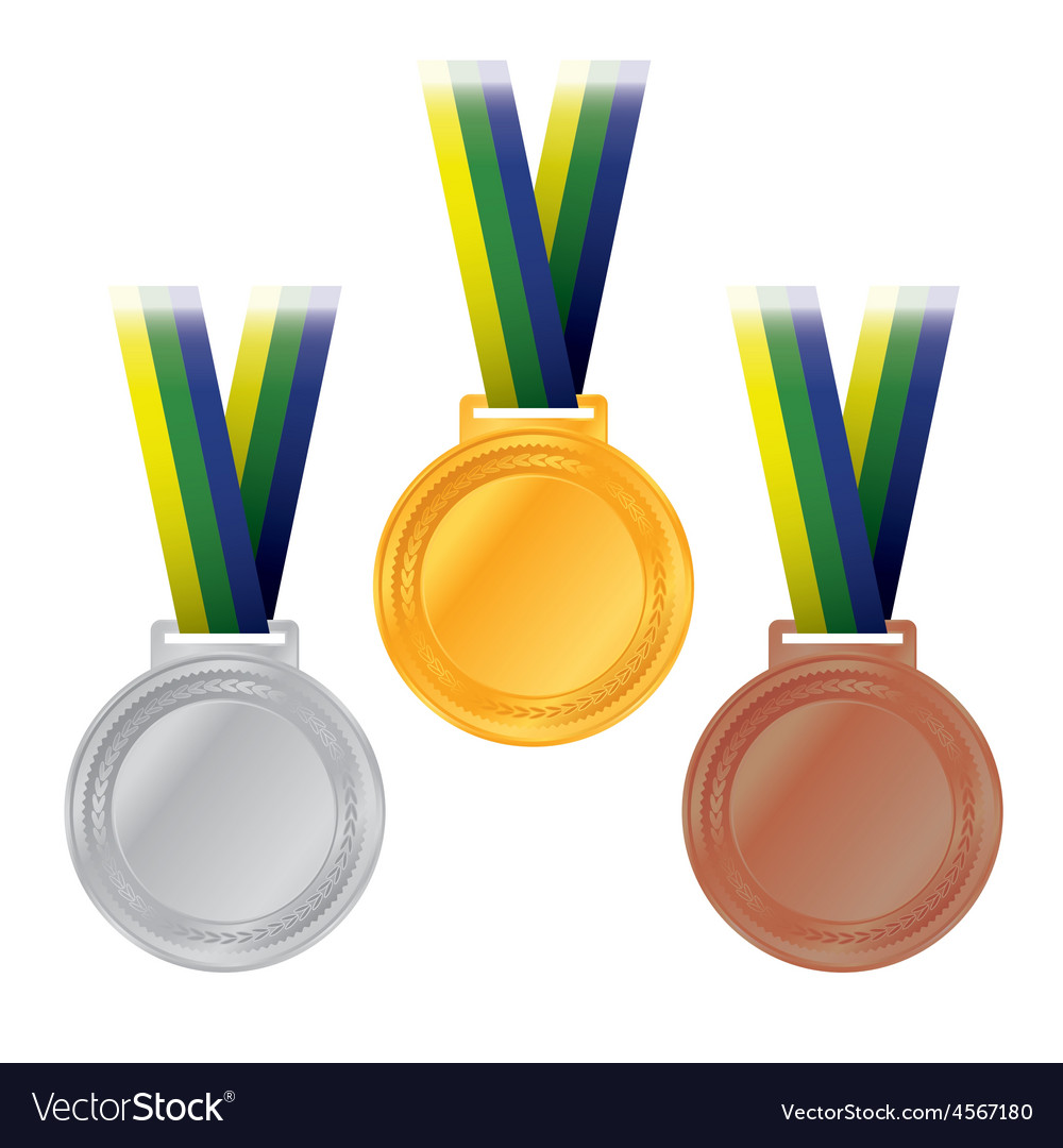 Olympic medals rio brazil vector | Price: 1 Credit (USD $1)