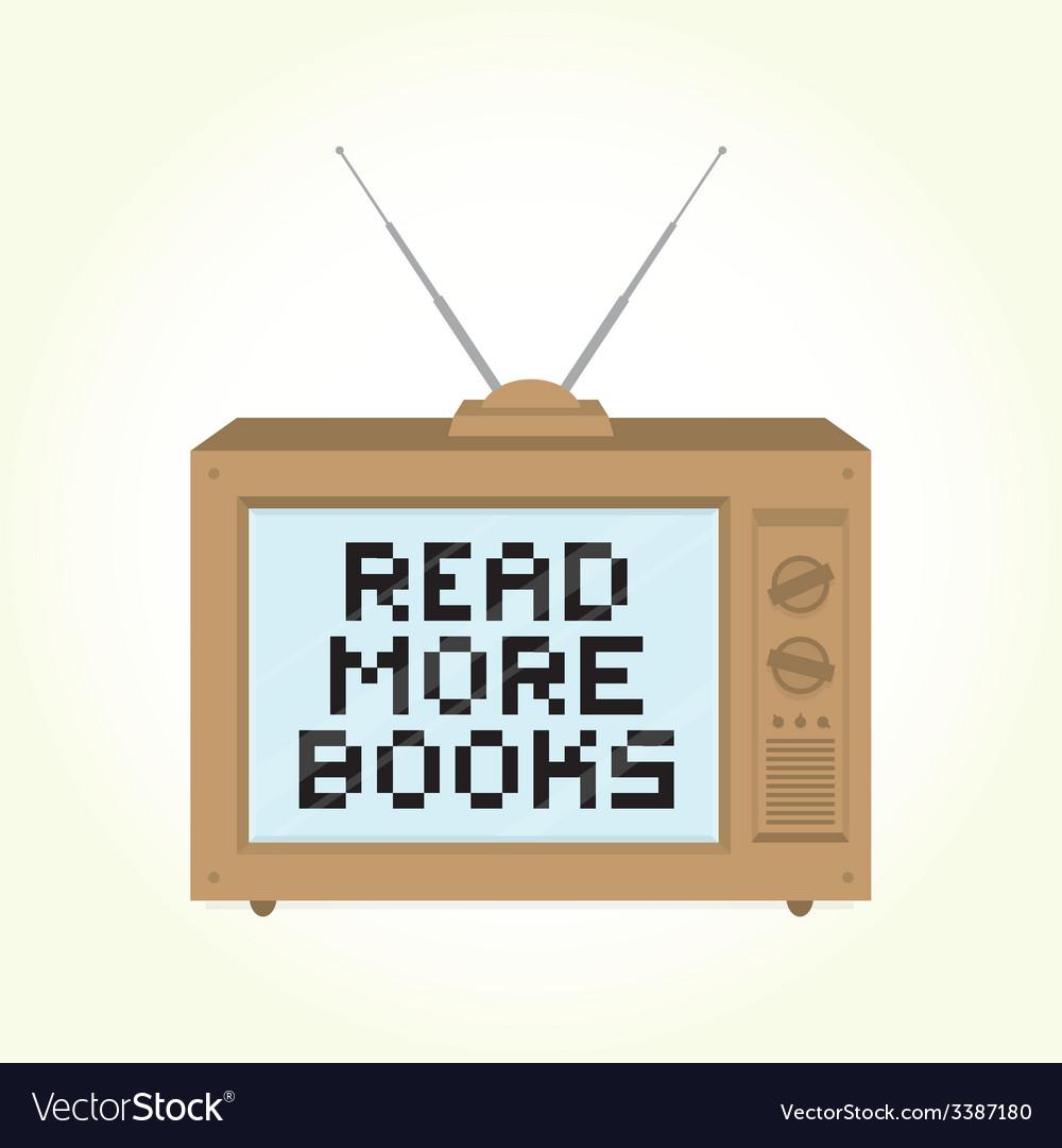 Read more books retro television vector | Price: 1 Credit (USD $1)