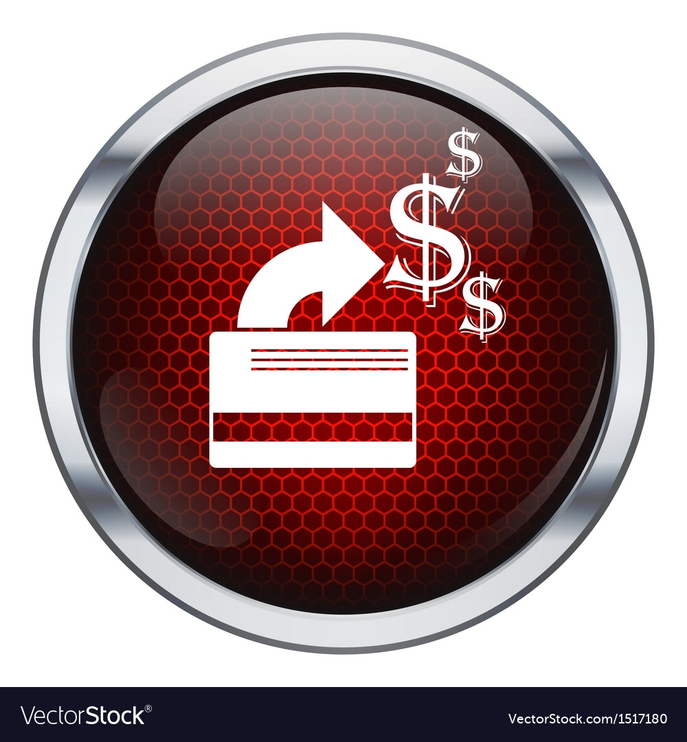 Red honeycomb credit card icon vector   Price: 1 Credit (USD $1)
