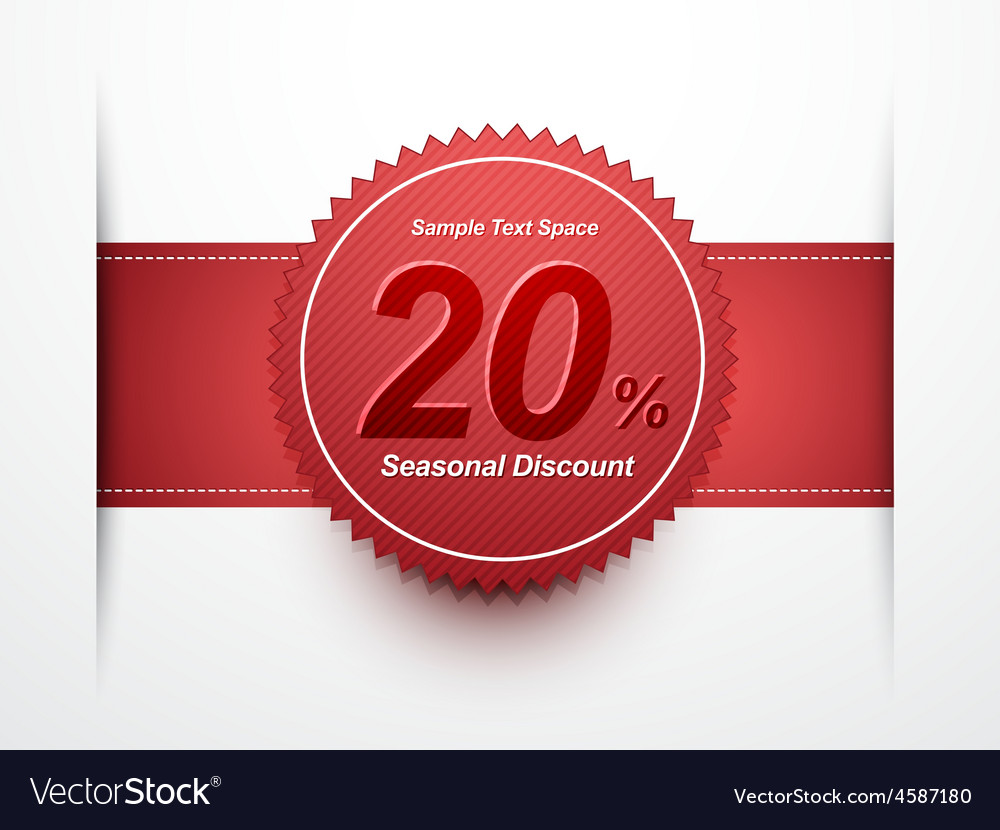 Seasonal discount label vector | Price: 1 Credit (USD $1)