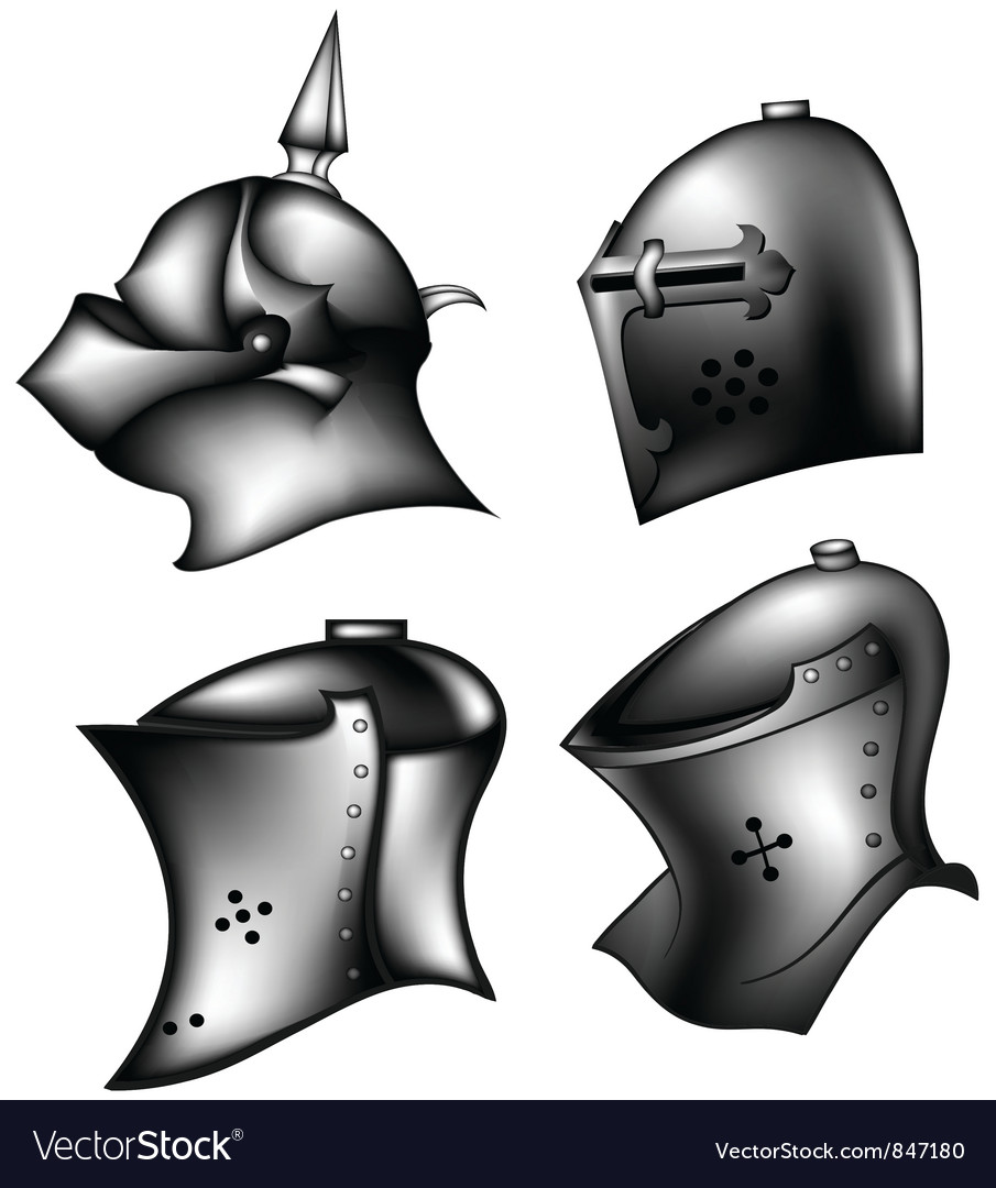 Set of ancient helms vector | Price: 1 Credit (USD $1)