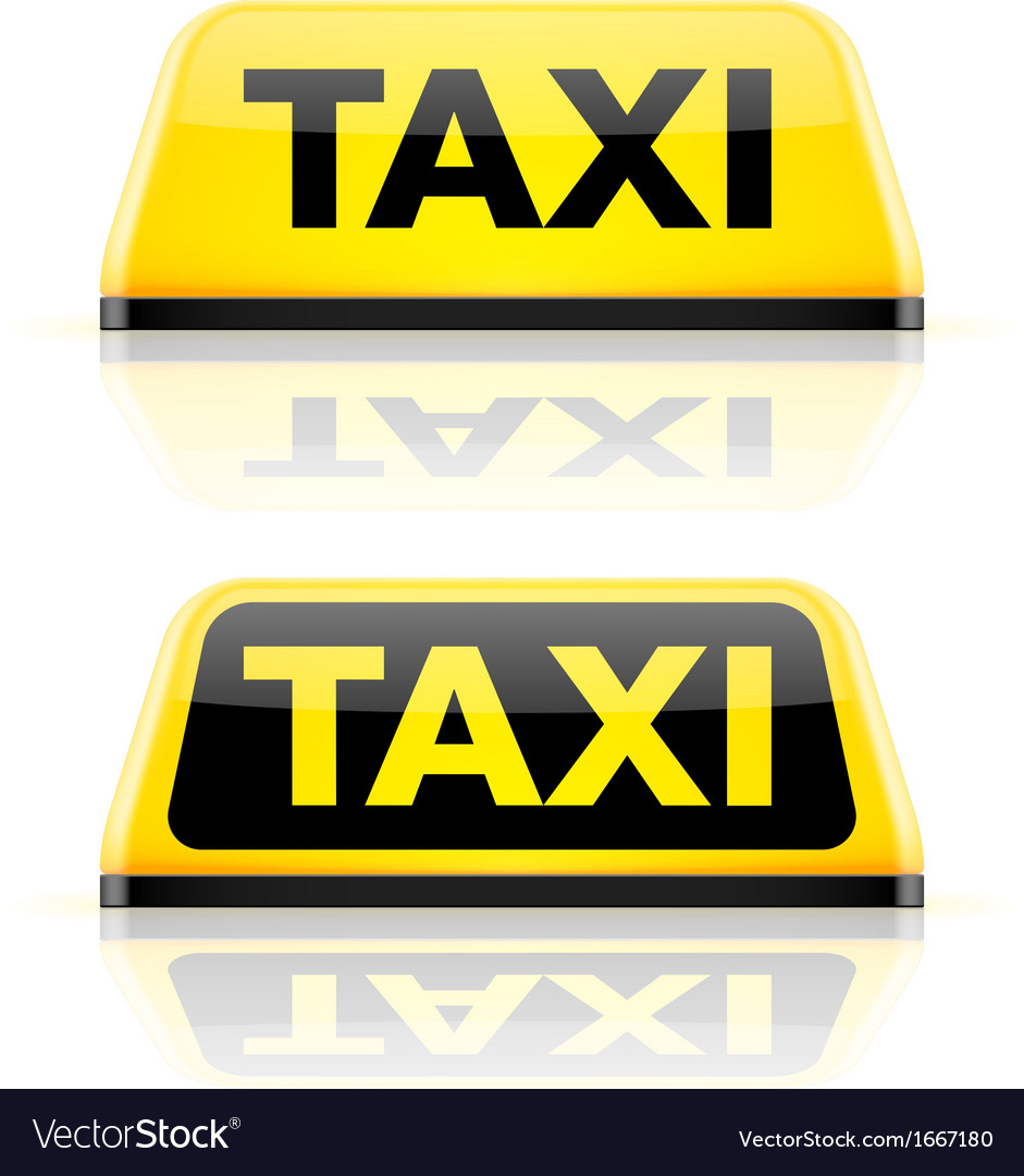 Taxi car roof sign vector | Price: 1 Credit (USD $1)