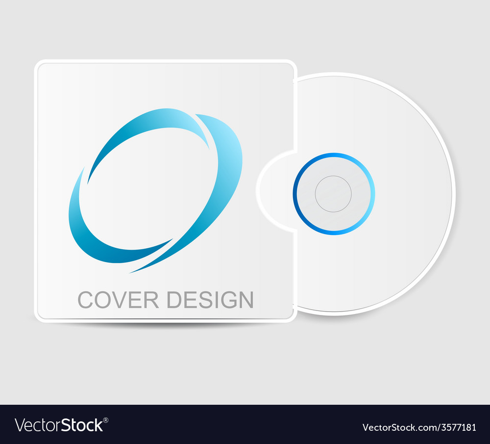 Blank white compact disk vector | Price: 1 Credit (USD $1)