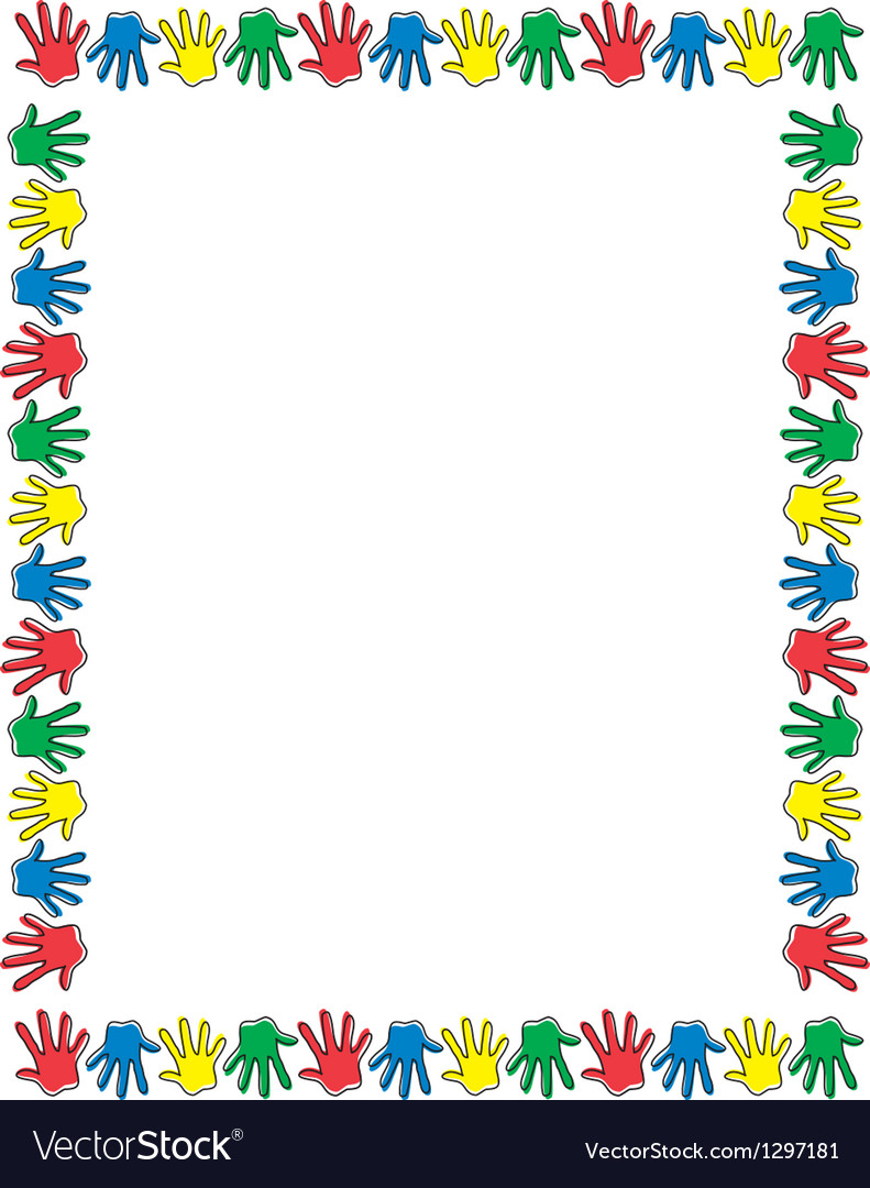 Border of hands vector | Price: 1 Credit (USD $1)