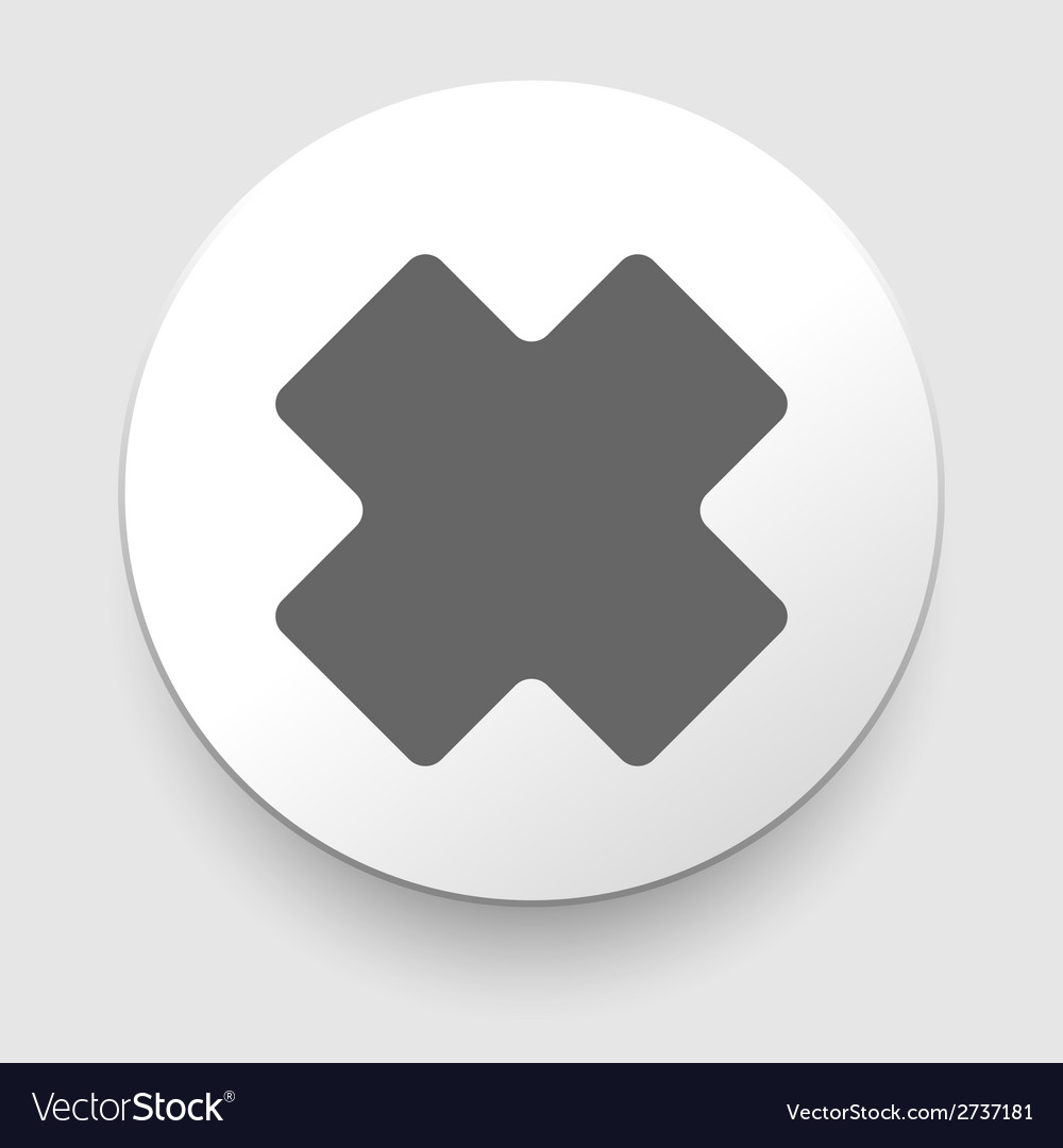 Cross icon vector | Price: 1 Credit (USD $1)