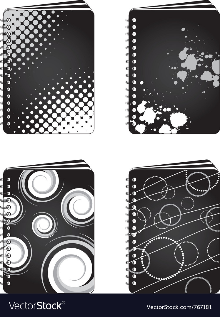 Grunge notebooks vector | Price: 1 Credit (USD $1)