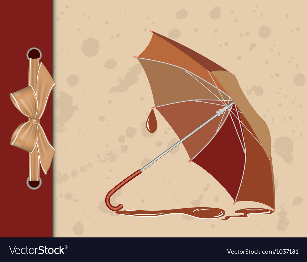 Open umbrella on vintage background vector | Price: 1 Credit (USD $1)
