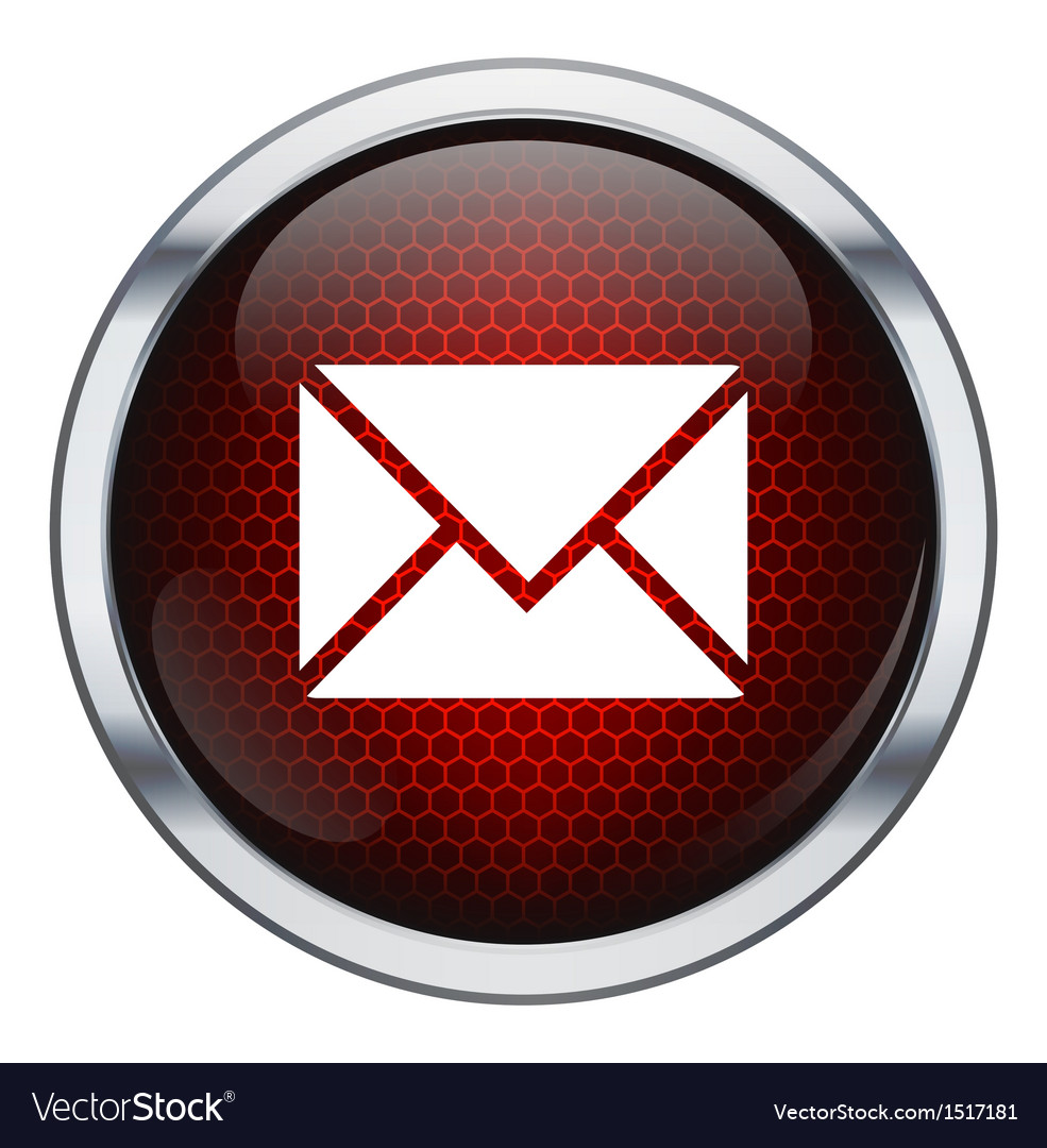 Red honeycomb mail icon vector | Price: 1 Credit (USD $1)
